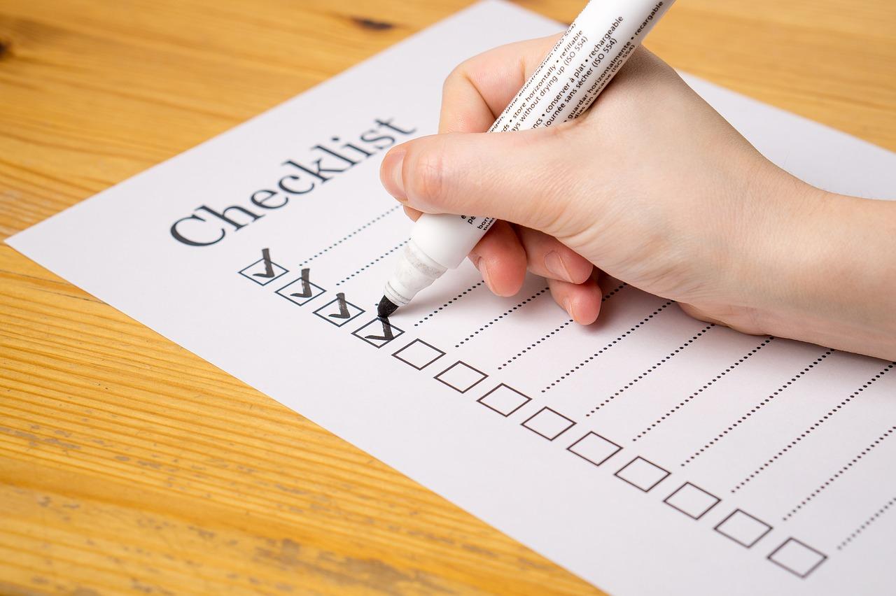 Erste Wohnung Checkliste
