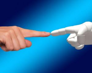 robot und mensch